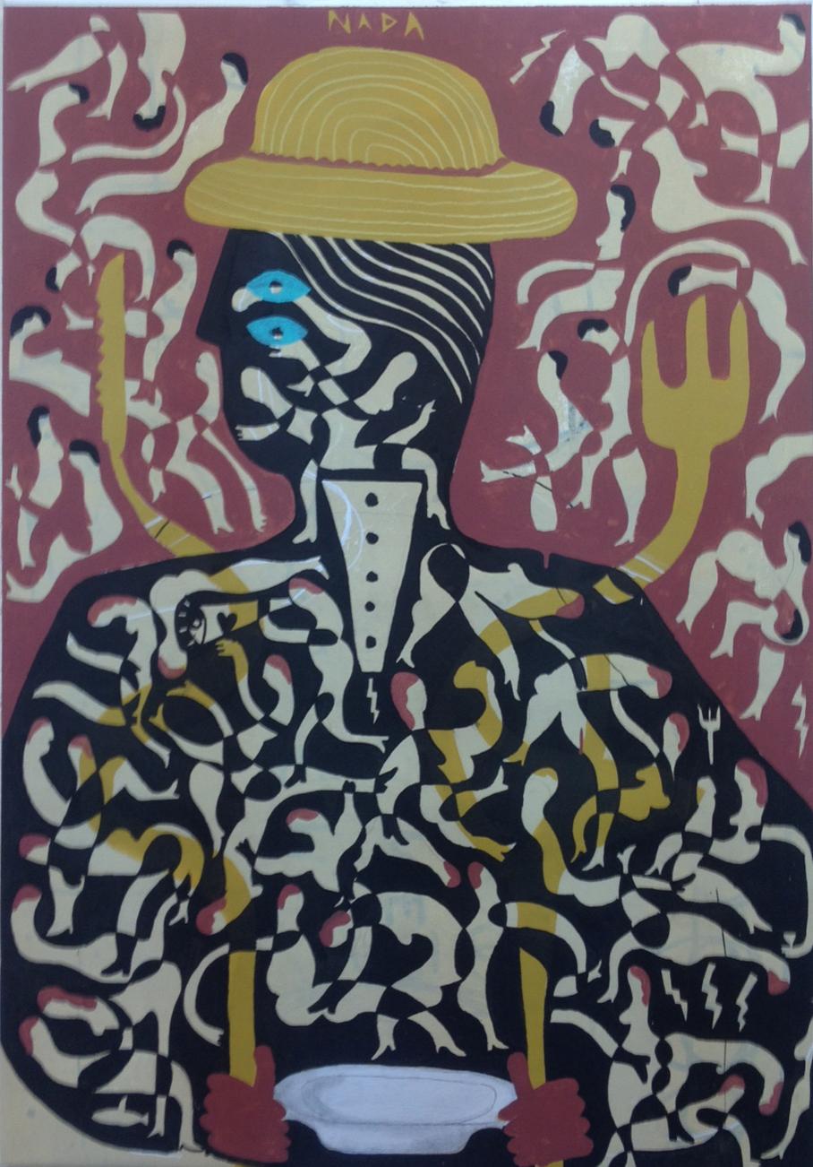 Nada, 2016 Mixto Acrílico, plástica y spray/lienzo 122 x 85 cm