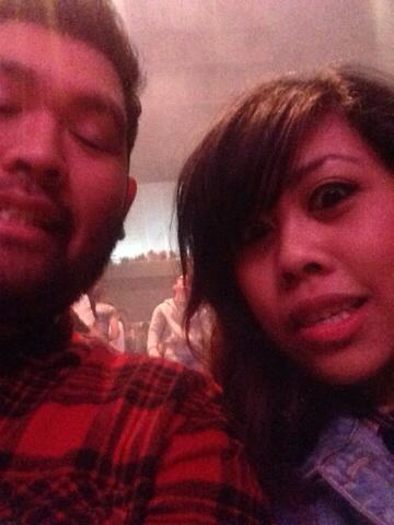 Our first selfie together at Passion 2014.
