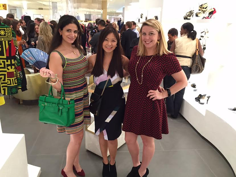 Houston fashion illustrator Rongrong DeVoe at The Galleria Mall with friends