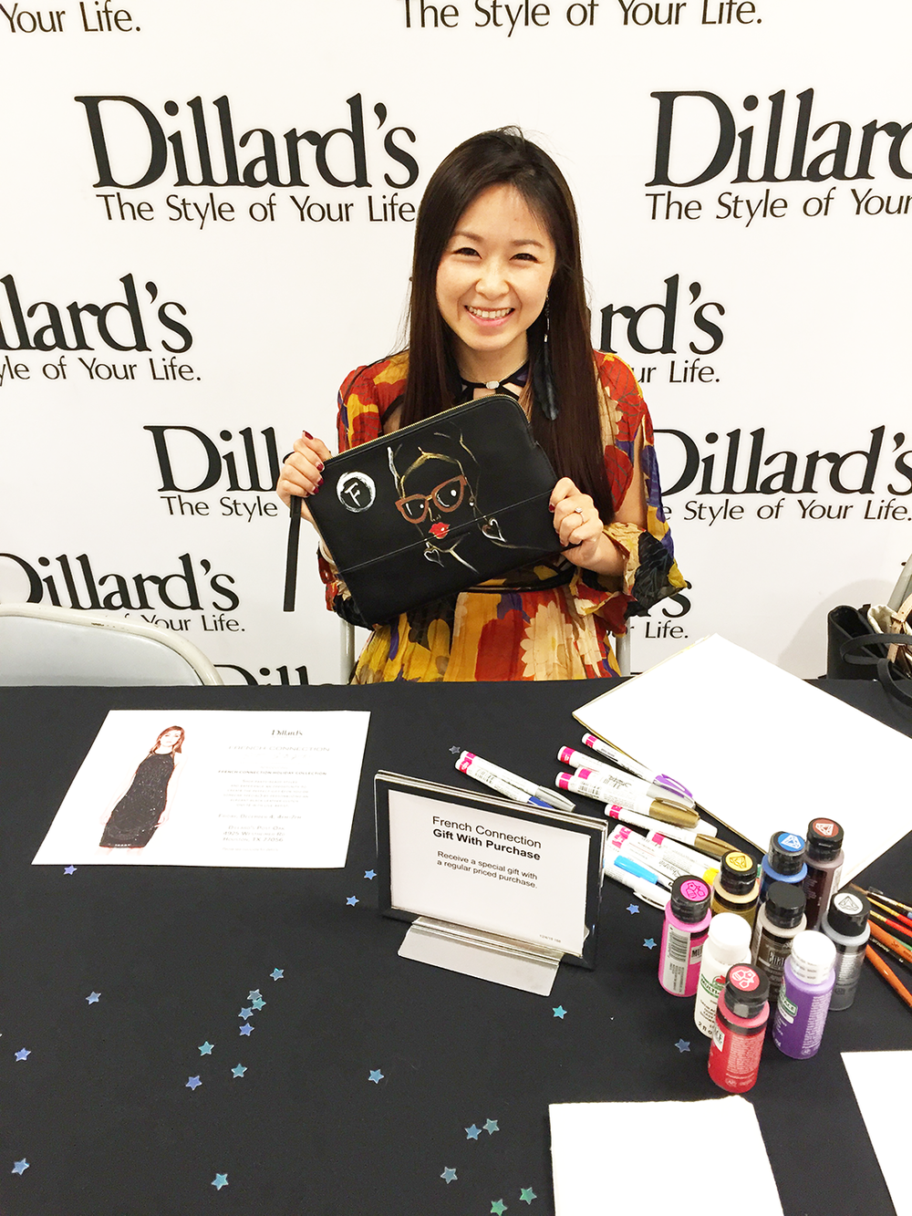 Fashion-Illustrator-Rongrong-DeVoe-collaboration-with-French-Connection-at-Dillard's-Houston-1