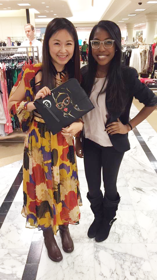 Fashion-Illustrator-Rongrong-DeVoe-and-her-assitant-at-French-Connection-Dillard's-event
