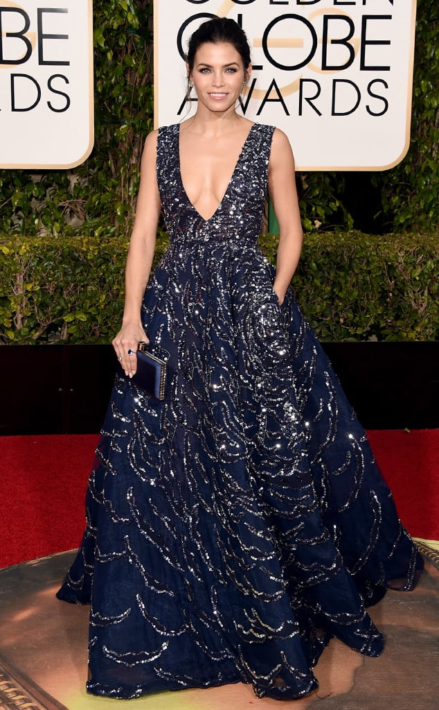 Jenna Tatum in Zuhair Murad at The Golden Globes 2016