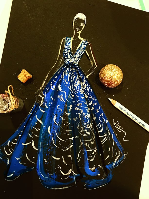 Final version of the Zuhair Murad gown.
