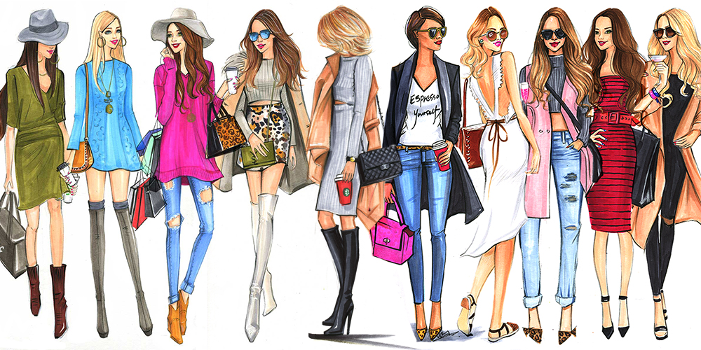 Fashion Illustrations of street fashion bloggers by houston fashion illustrator Rongrong DeVoe.jpg