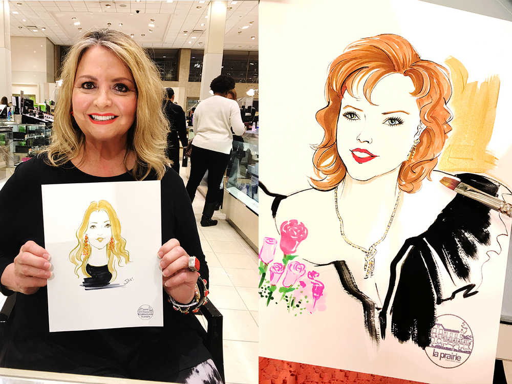 Live-sketch-at-La-Prairie-beauty-event by Rongrong DeVoe.jpg