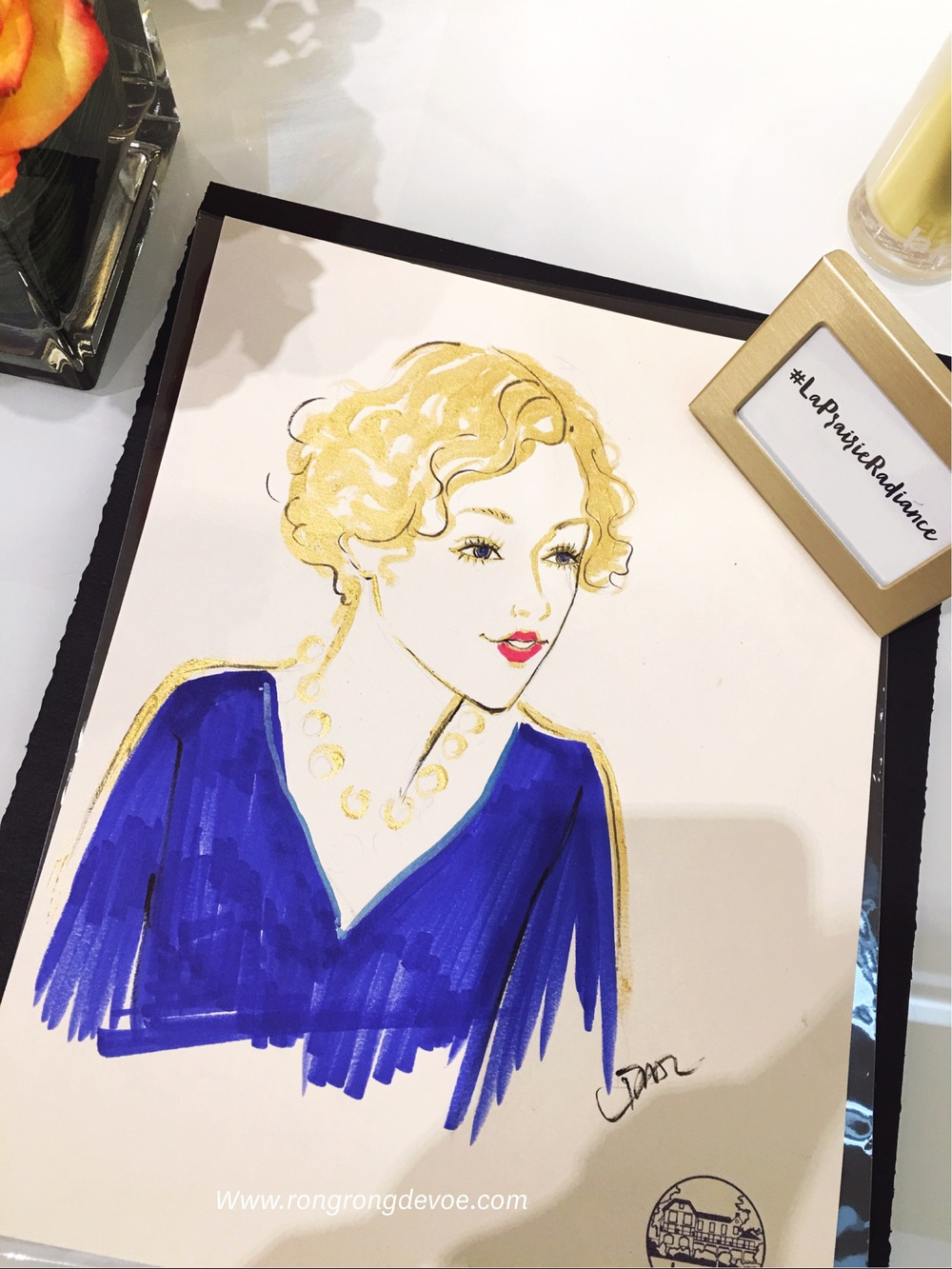 La-Prairie-live-sketch-event-at-Neiman-Marcus-San-Diego-by-fashion-illustrator-Rongrong-DeVoe--2