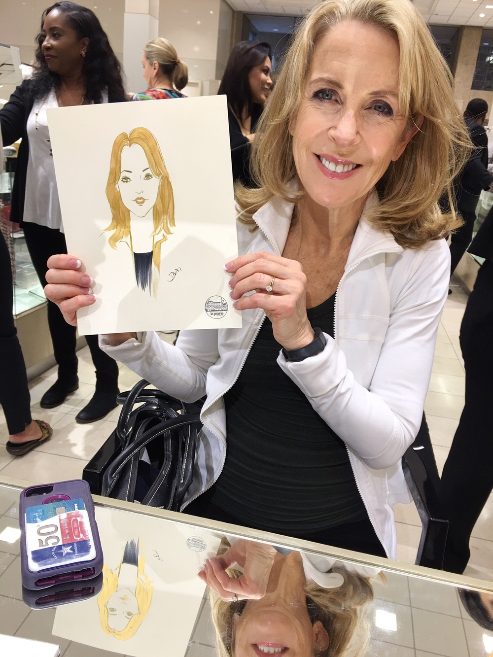 La-Prairie-live-sketch-event-at-Neiman-Marcus-Houston-by-fashion-illustrator-Rongrong-DeVoe--2