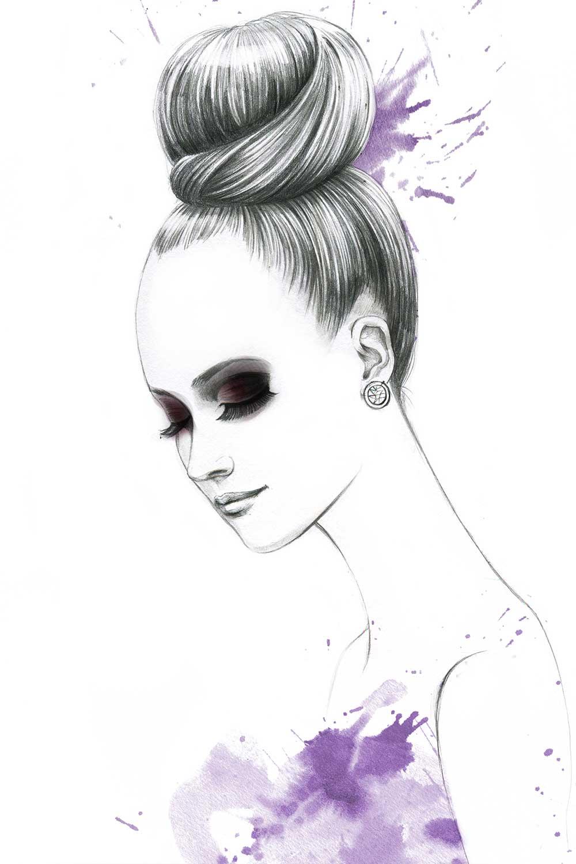 Fashion-Illustration-for-Gino-hair-salon-by-Fashion-Illustrator-Rongrong-DeVoe-2
