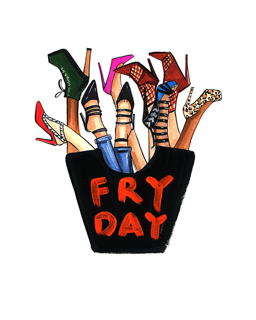 High heels  fry day illustration by Rongrong DeVoe.JPG