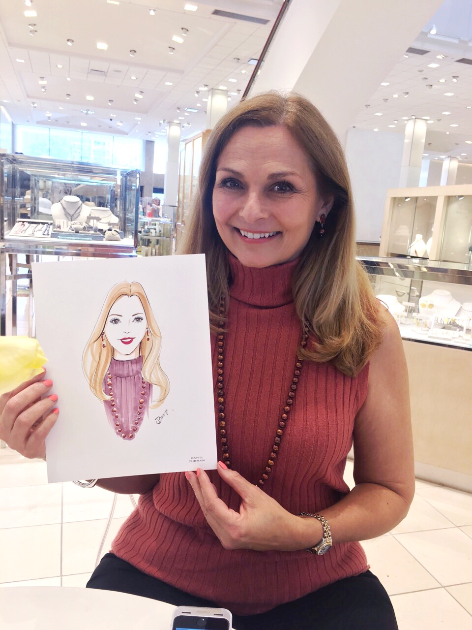 Live-sketch event for David Yurman by Fashion illustrator Rongrong DeVoe
