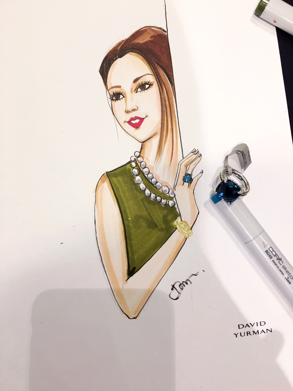 LA Live-sketch event for David Yurman