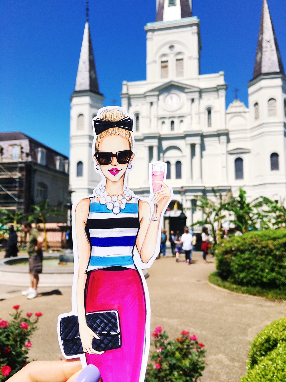 New Orleans Street fashion illustration by Rongrong DeVoe