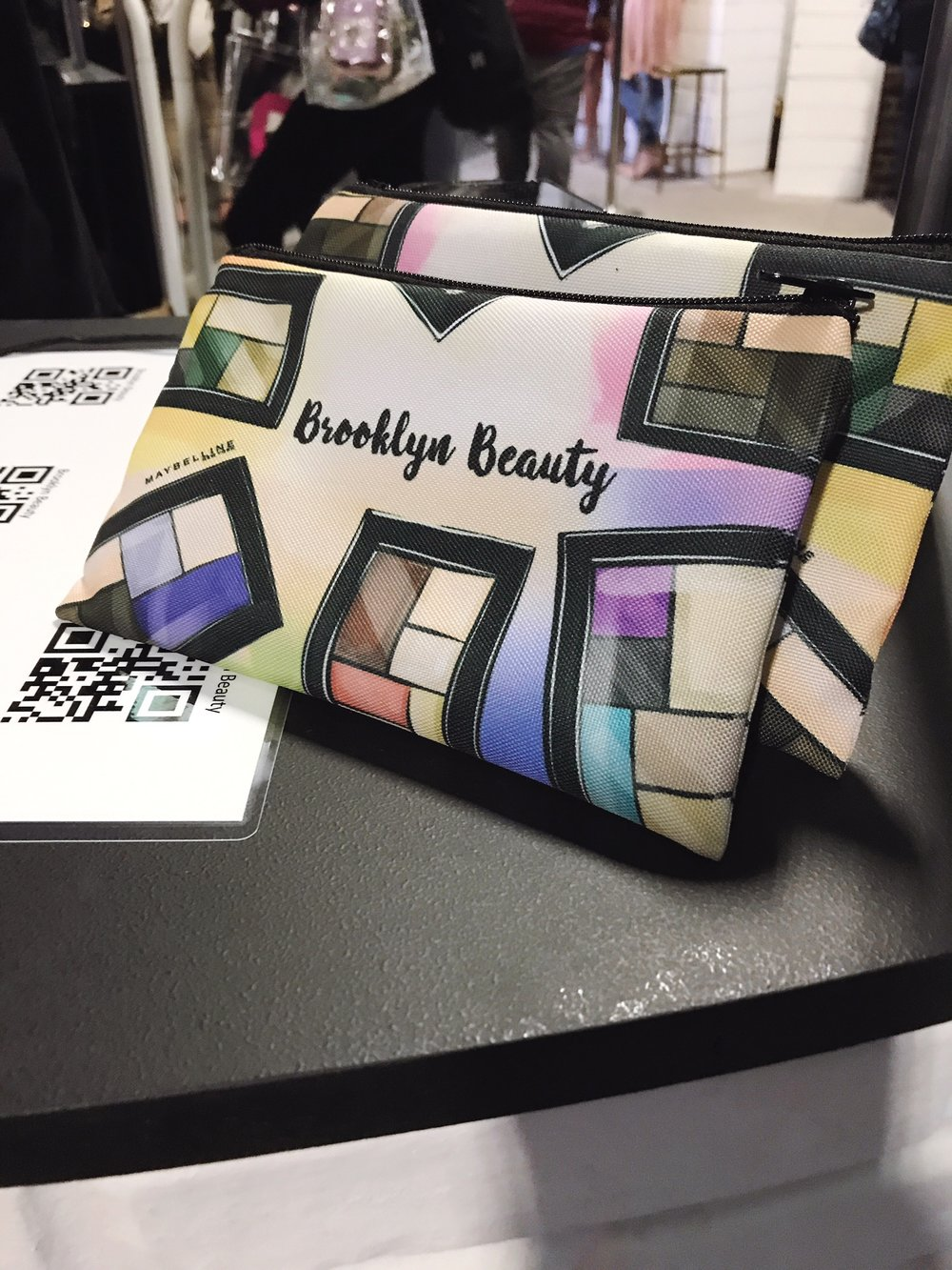 Makeup bag designed by fashion illustrator Rongrong DeVoe for Maybelline New York