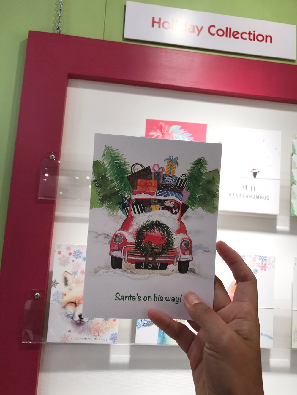 Spot my Christmas Card at  Calypso