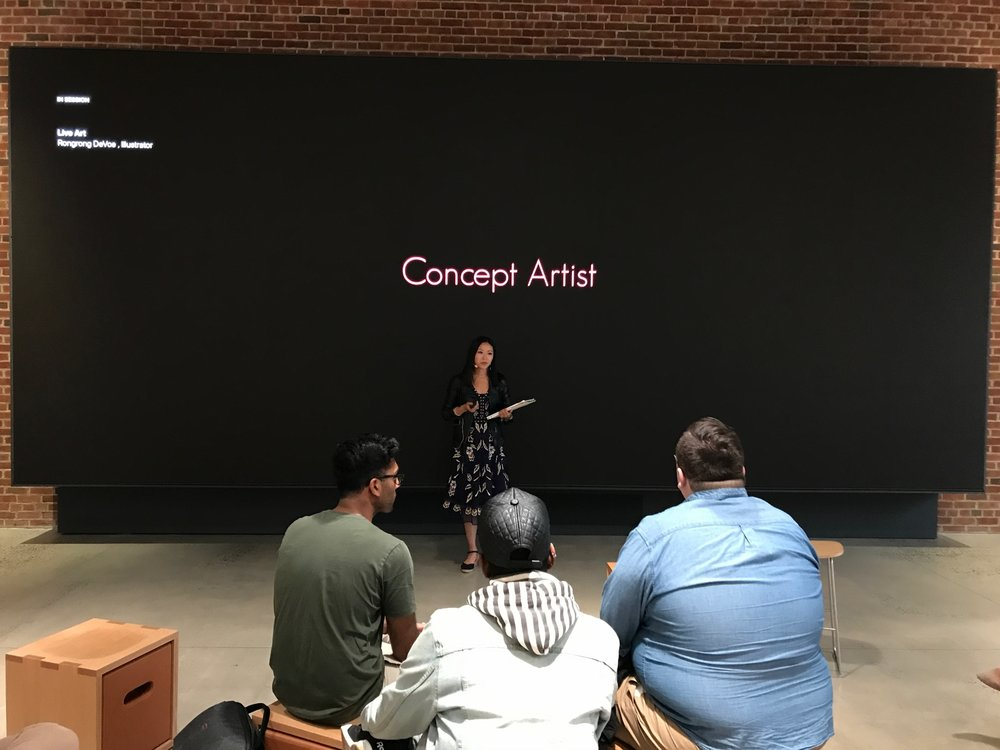 Fashion Illustrator Talk at Today At Apple Brooklyn