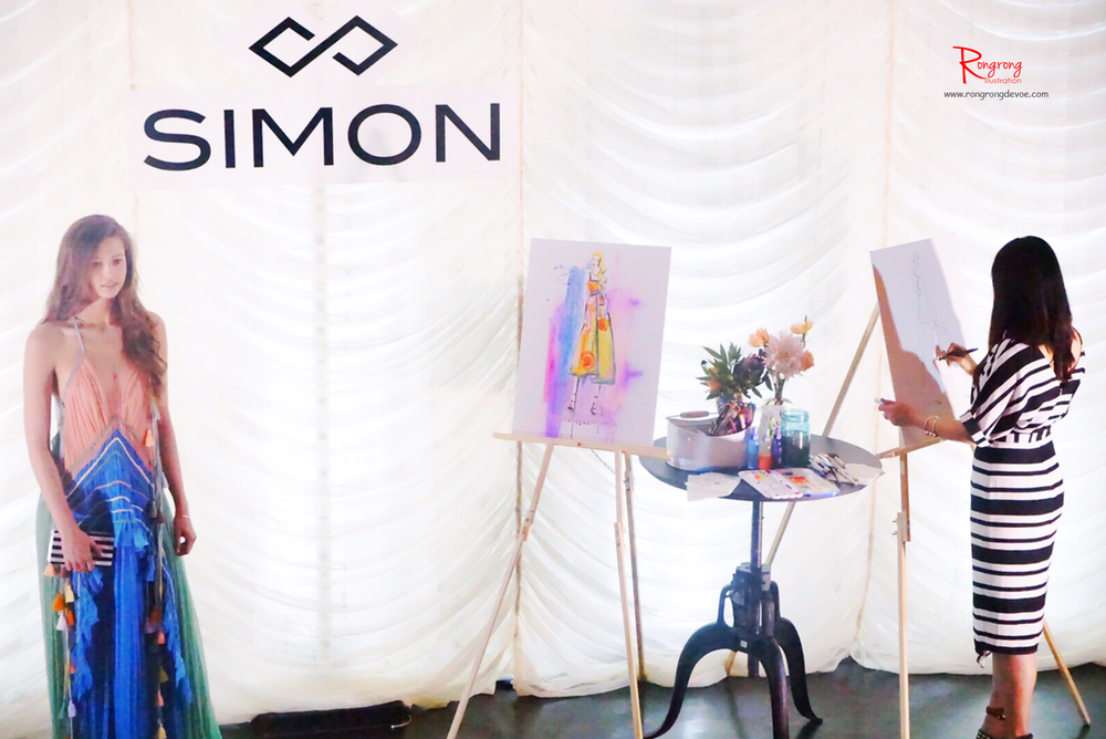 Live sketch at Simon Property Group fashion event