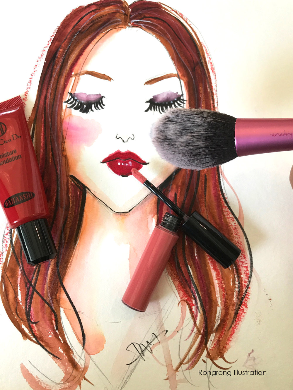 MAC backstage Beauty Illustration by Rongrong DeVoe.JPG