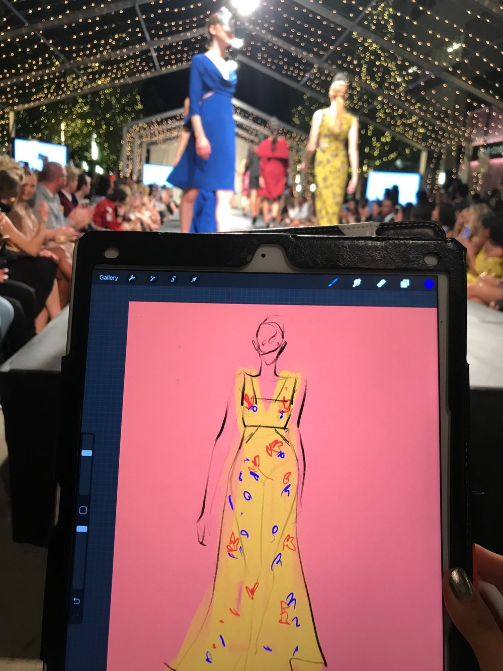 Live sketch at FashionxHouston Chloe Dao.JPG
