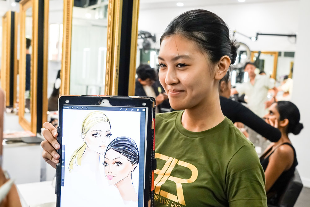 Beauty illustration at backstage NYFW by Rongrong DeVoe.jpg