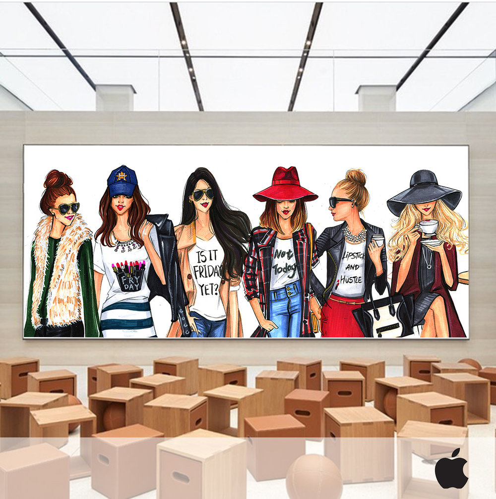 Today at Apple talk by Fashion illustrator Rongrong DeVoe