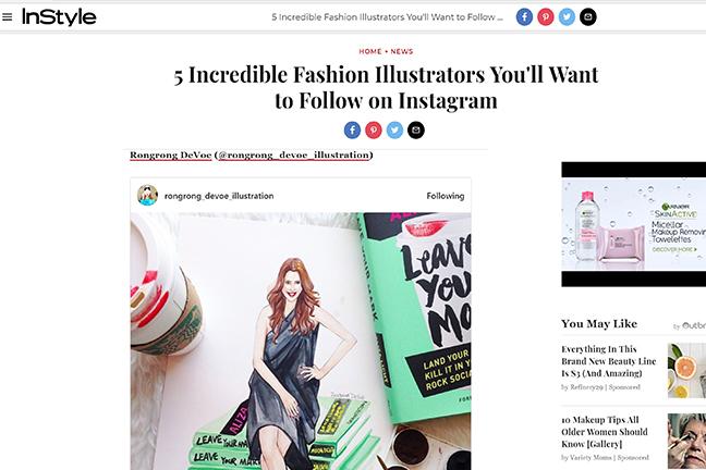 InStyle magazine features fashion ilustrator Rongrong DeVoe.JPG