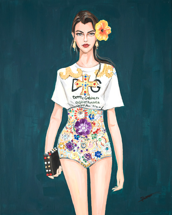 Fashion illustration Portrait D&G by Rongrong DeVoe.JPG