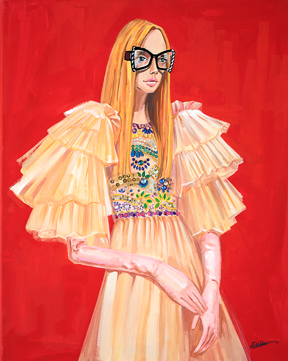 Fashion illustration Portrait Gucci  by Rongrong DeVoe.JPG