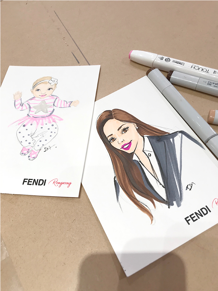 Fashion illustrator Live sketch fashion illustration for luxury brand Fendi.jpg