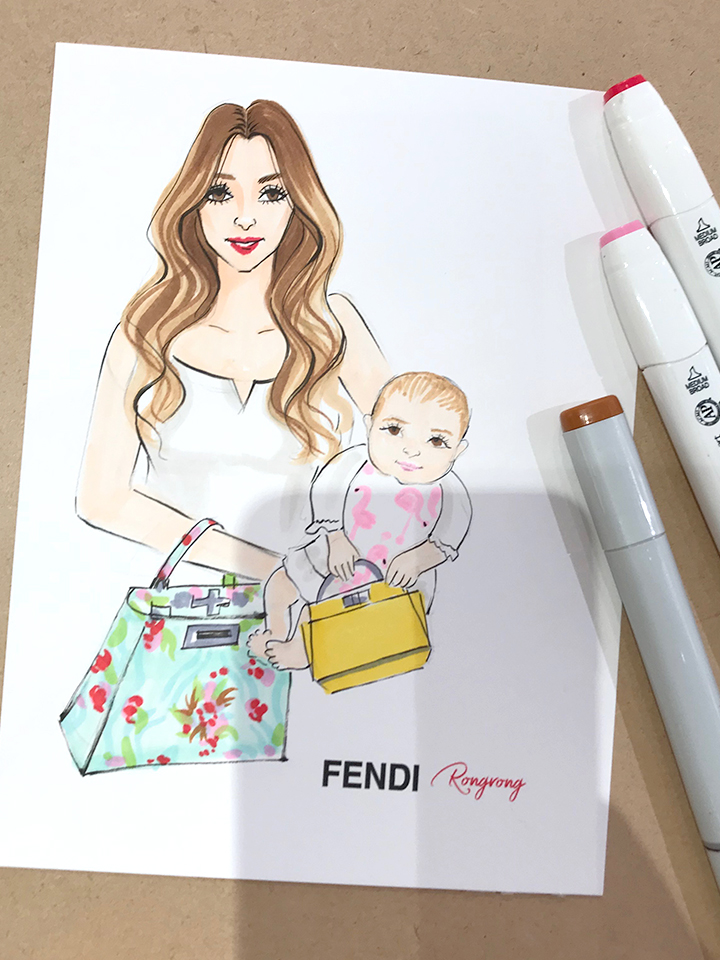Live fashion sketch event at Fendi for Mother's day with fashion illustrator Rongrong DeVoe.jpg
