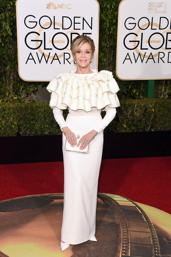 7. Jane Fonda in Yves Saint Laurent Couture