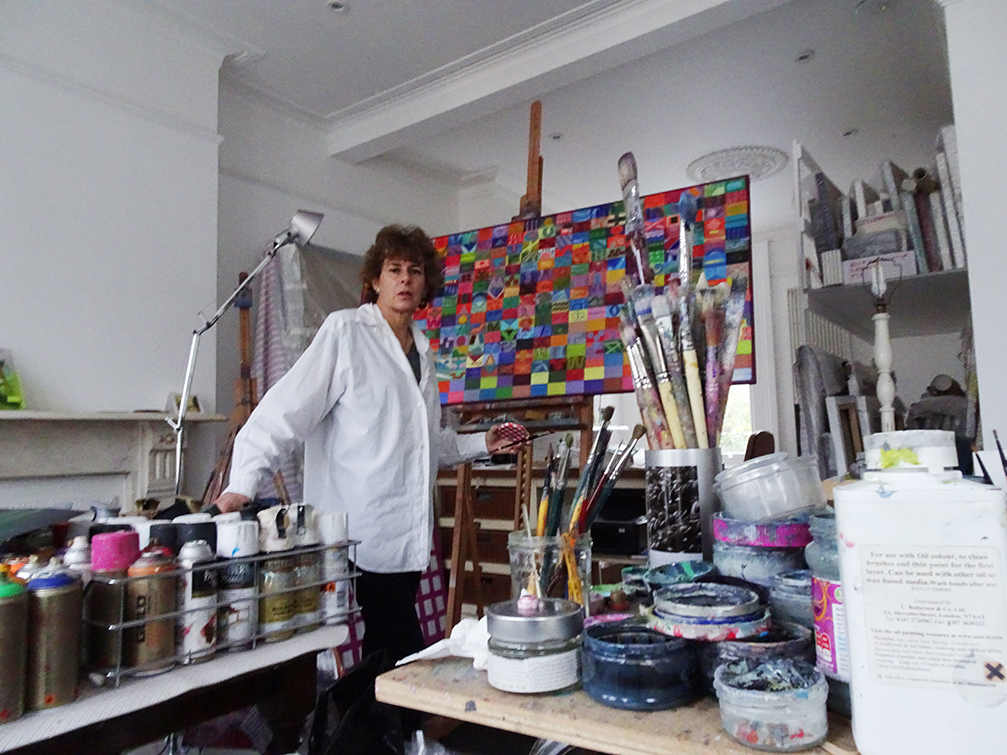 Lucy Ash in her studio
