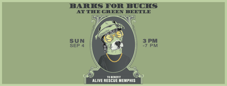 We are pumped to have another event at   The Green Beetle  . On September 4th from 3-7 we will be hosting Barks For Bucks. Come out and enjoy the music of   The Rusty Pieces  , adult beverages, and our dogs.All the money raised will go directly to the dogs in our program.   $6 admission includes your first Yazoo Beer and a raffle ticket!   We will also have a raffle with a ton of cool dog and people related prizes. We hope to see you there!   https://www.facebook.com/events/875619949210558/