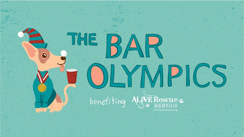 ALIVE Rescue Memphis is having our first ever Bar Olympics at The Hi Tone Cafe on Sunday December 10th. It will be a Sunday funday of competition, games, drinking, and dogs all to raise money for the current and future dogs of ALIVE Memphis.   Registration is available in teams of 4 and 6. All teams will start at Hi Tone to sign-in, collect your scorecard and receive your bar/game schedule for the day. Games include Beer Pong, Wii Bowling, Flippy Cup and so much more! Games begin sharply at 3:30 and each team will head to their first game station and begin their first game. Teams will rotate through their game schedule.  Beyond a plethora of fun and competition we will also have pictures with your pups and Santa. This will not be the usual boring and basic Santa. Imagine Santa with a Memphis twist. There will also be a ton of fun raffle prizes to win along with music, food trucks, and a few other fun things up our sleeves.   Come spend the afternoon with us and drink and play to your heart's delight while helping us bring in some much needed cash for the dogs who depend on us.