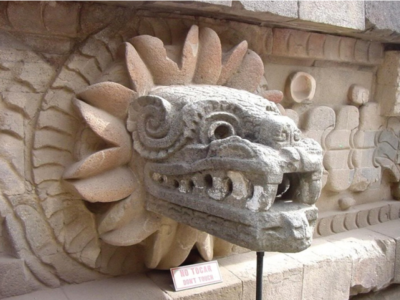 2. The eye in the logo above was influenced by this stone serpent head. You will see that it does have a bit of that whimsical feel.