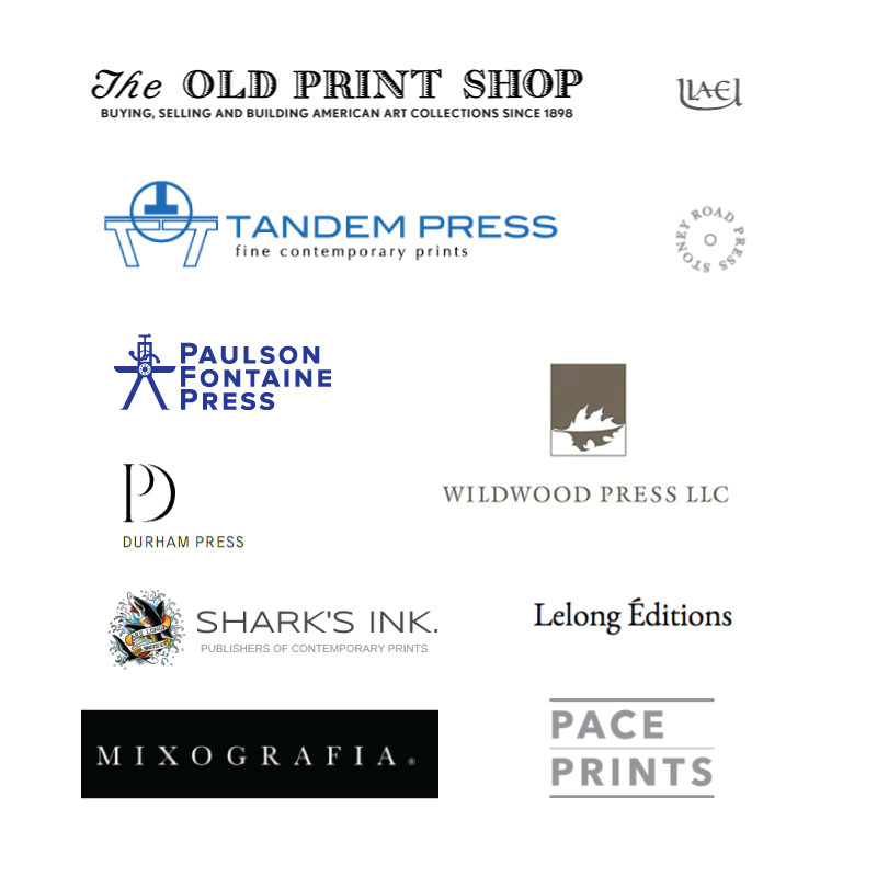 other fine art publishers' logos for reference.