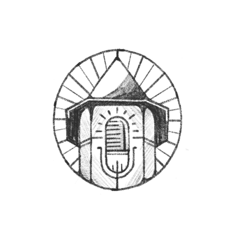 Combining the tower with a microphone - the radiating lines suggest illumination and the concept of broadcasting these stories out into the world. I think this could be a really nice refined icon paired with some classy typography.