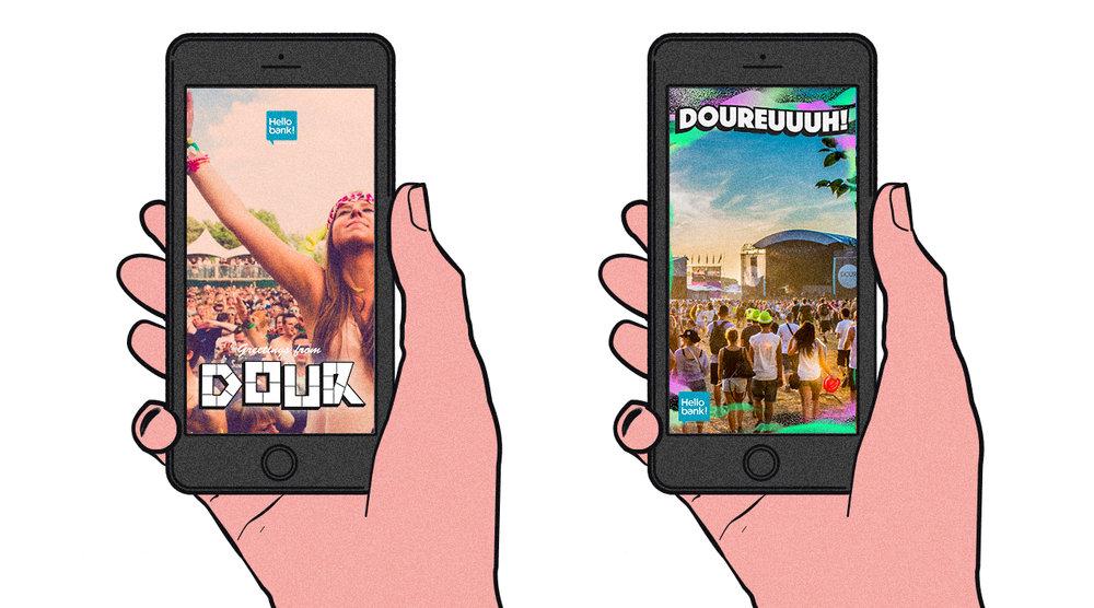 Dour Festival - Snapchat geo-filters for Dour Festival.