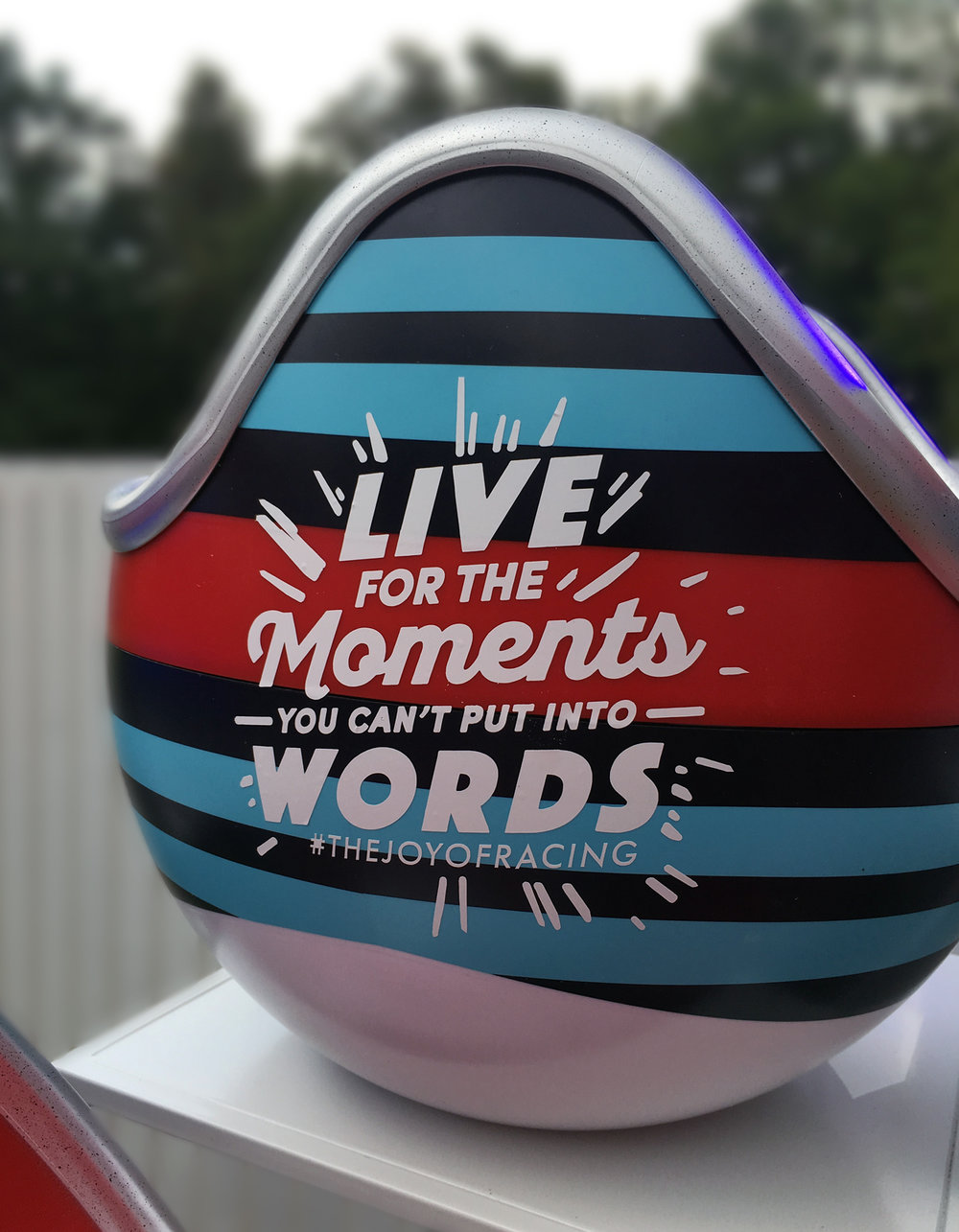 Live For The Moments You Can't Put Into Words - —One of the 8 helmets live painted at the Martini Terrazzo event.