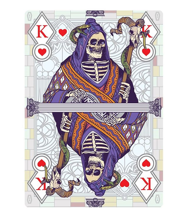 First three cards of my card deck GRAVEYARD. Which one is your favourite? 1, 2 or 3? Let me know in a comment! Thanks! You can still support my Kickstarter via the link in my bio @musketon #playingcards #carddeck #cardgame #playingarts