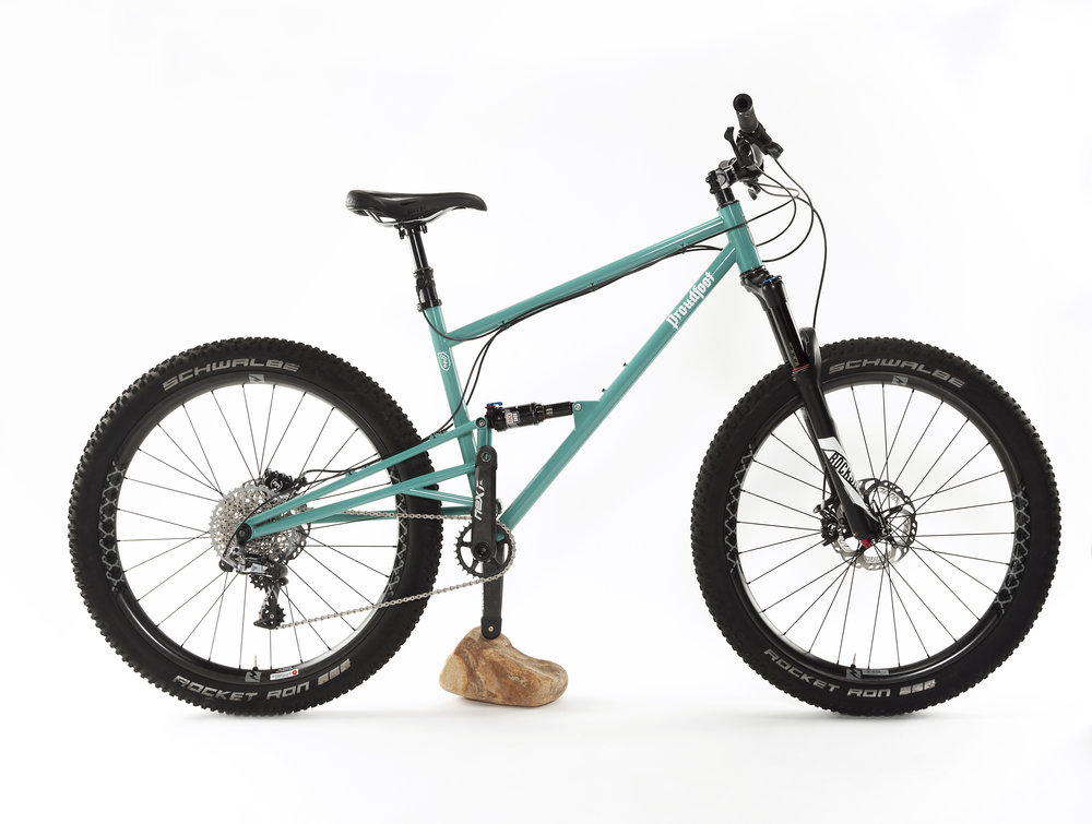 Primed Full-Suspension Boost Mountain Bike Frame — Proudfoot Cycles