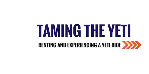 Taming the YETI - Renting a YETI Snow Bike