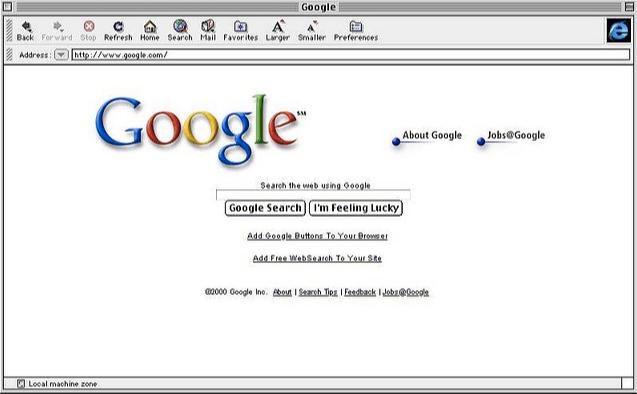 Google Search - Circa 2000