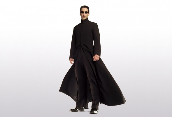 And not even a cool, Matrix-y cloak...