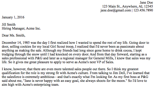Cover Letter   Second Paragraph  The Perfect Cover Letter
