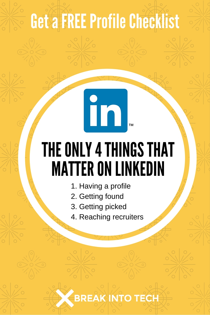 The only 4 things on linkedin that matter break into tech click to pin or use the share buttons madrichimfo Gallery