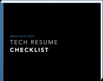 Tech Resume Checklist