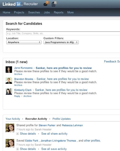 LinkedIn's Recruiter platform