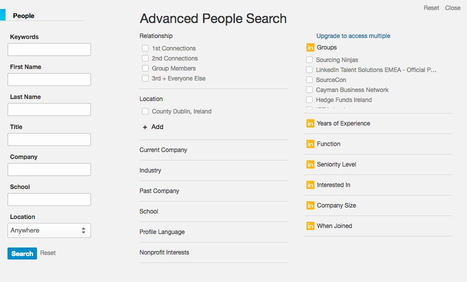 LinkedIn Advanced People Search