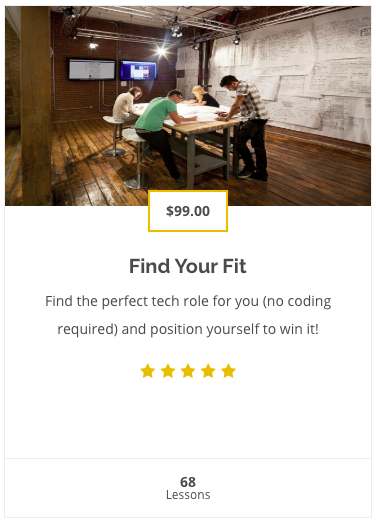Find Your Fit Tech Career Course