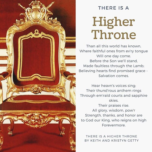 Meditating on this song we sang together yesterday. There is a Higher Throne! #mondaymeditations